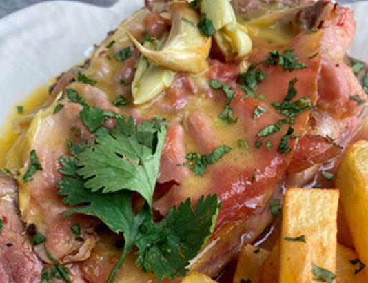 Bife à Portuguesa com batata