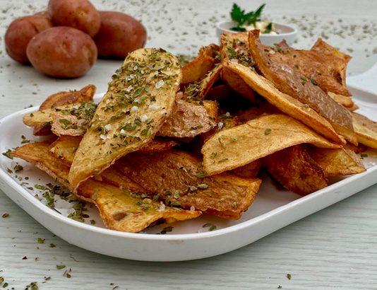 Cascas de batata crocantes